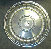 Original 1979-1993 Cadillac Fleetwood Set Of 3 Stainless Steel 15andrdquo Hubcaps