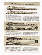 1955 Ad American Flyer Trains And Accessories, The Chief, Silver Comet, 6 Pages