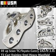2002-2009 Toyota Camry/2005-2010 Scion Tc 2.4 2az-fe T3 Solid Stainless Manifold
