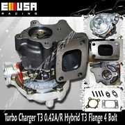 Emusa Universal T3 Turbo Charger 0.48 A/r Hot Side 45 Trim Stage Iii T3