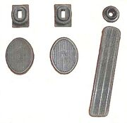 6-pc Pedal And Draft Seal Set For 1942-1948 Dodge Passenger Cars