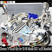 T4 Turbo Kits+intercooler For 93-95 Mazda Rx-7 Touring Coupe 1.3l Turbocharged