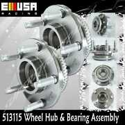2 Pcs Front Wheel Hub Bearing Assembly For 2000-2004 Ford Mustang W/abs 513115