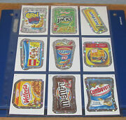 Wacky Packages Ans9 Silver Flash Foil Complete Set 1-55 In Nm/mt Condition