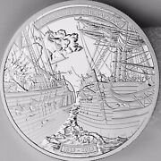 2013 50 Shannon Vs. Chesapeake 5 Troy Oz. Pure Silver Proof Coin War Of 1812