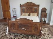 Antique Bedroom Furniture Full Size Bed Gorgeous Carvings. Mint Condition