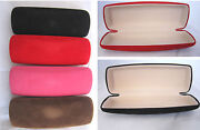 C15 Soft Velvet Suede Effect Hard Reading Glasses Case/for Small Spectacles