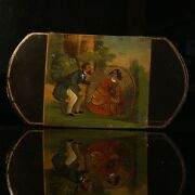 Wonderful Early Cigar Case Painted On Both Sides