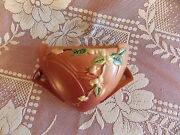 1940's Roseville Pottery Snowberry Pink Wall Pocket 1wp-8 Excellent Condition