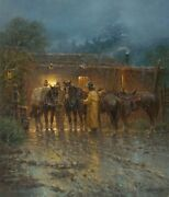 G. Harvey Rigged And Ready A/p Canvas Giclee Cowboys Texas Mint 2013 Release