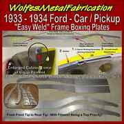 1933 - 1934 Ford Easy Weldandtrade Dimpled Frame Boxing Plates 33 - 34 Belled Chassis