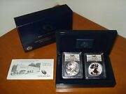 2013-w Silver Eagle West Point Two Coin Set Pcgs Ms70 And Pr70 First Strike