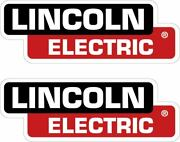 Pair Of 2 Lincoln Electric Decals 3x8.5 Replacement Welder Stickers P67