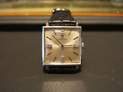 Omega Vintage Mens Watch 14 Karat White Gold And 8 Diamonds Pre-owned Wow