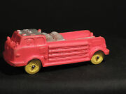 Auburn Red Rubber Fire Truck 3 614 On Back And Front Fender Plate Area 3042
