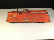 Early Auburn F.d. Red Rubber Truck Made In The Usa 5106
