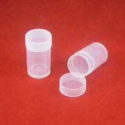 20 Edgar Marcus Round Plastic Coin Storage Tubes For Us Small Dollar 26.5mm