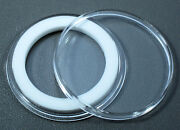 Air-tite 30mm White Ring Coin Holder Capsules For Half Dollars Qty. 25