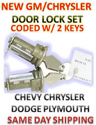 New Chrysler Chevy Dodge Plymouth Pair Door Lock Set Coded W/2 Keys To Match