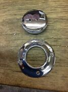 Boat Polished Chrome Fuel Cap C530 And Fuel Trim Ring 1 7/8 Id