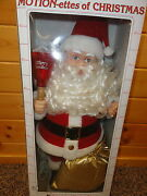 Vintage 1986 Telco Motionette Animated Christmas Santa Claus And Mrs Claus Set