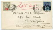 1901 2d+2andfrac12d Cvr To Usa Tied K48 Andldquolondon And Holyhead T.p.o. United States Mail