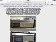 Worlds First Video Recorder Vintage Sony Tcv-2020
