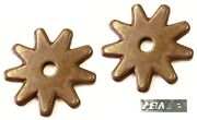 Rounded 9 Point Spur Rowels1-1/4 Antique Brown Sold In Pairs New Free Ship