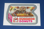 Wacky Packages Ans10 Silver Foil 11 Dungeon Donuts    Nm/mt