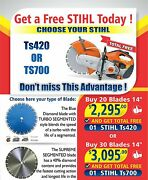 Buy 20 Blades And Get Your Free Stihl Machine Ts420 Today