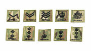 Rank Patch Velcroandreg Backed For Molle Chest Rig Uniform Pack Carrier