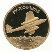 Israel 2001 Airplanes That Made History Meteor Medal By Weishoff 50mm Bronze