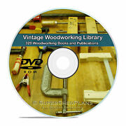 320 Wood Woodworking Tools Restoration Carpentry Carving Turning Books Dvd V10