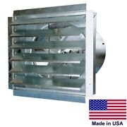 36 Exhaust Fan And Shutters- 9000 Cfm - 11.2 Amps - 120 Volts - 1 Speed - 1 Hp
