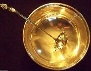 More Rare Art Nouveau Pattern Hallmarked Solid Sterling Punch Ladle 14 3/4 Sz