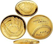 New 2014 W National Baseball Hall Of Fame Gold Proof 5 Coin B31 Hof Us Mint
