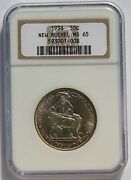 50¢ New Rochelle 1938 Ngc Ms65 Silver Commemorative