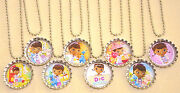 Set Of 8 Doc Mcstuffins Inspired Bottlecaps W/ Necklaces.birthday Party Favors