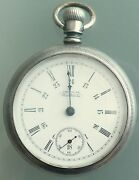 Antique 1895 Waltham Coin Silver Pocket Watch 18 Size 24 Hour Double Dial