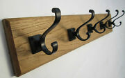 9 Sizes Solid English Oak Wooden Hat And And Coat Hooks Hanger Pegs Rail Rack 34