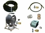 Sewer Jetter Kit - Hd Foot Valve, 100 X 1/4 Hose, Reel And Nozzles
