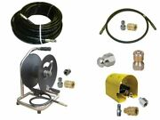Sewer Jetter Cleaner Kit - Foot Valve 150and039 X 1/4 Hose Reel And Nozzles