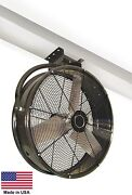 48 Industrial Ceiling Mounted Fan - 1 Hp - 19100 Cfm - 115v - 850 Rpm - 9 Amps