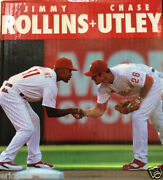 2014 Phillies Chase Utley And Jimmy Rollins Bobble Head Group Leader Rare Nib New