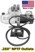 Hydraulic Dc Power Unit - 4 And 3 Way Release Valve - Side Mount - Triple Filter