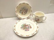 Royal Doulton Bunnykins Childand039s 2 Handled Cup Bowl And Plate