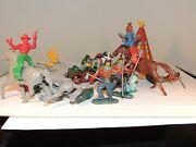 Plastic Cowboys And Indians Bodies Turn In Middle 7392