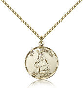 Saint Theresa Medal For Women - Gold Filled Necklace On 18 Chain - 30 Day Mo...