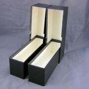 2 Black Cardboard Coin Slab Single Row Storage Boxes For Ngc Pcgs And Other Slabs