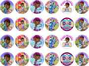 Doc Mcstuffins Edible Rice Wafer Paper Birthday Cupcake Cake Toppers